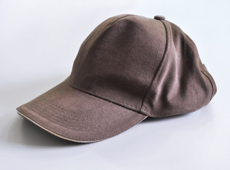 brown baseball cap on a
