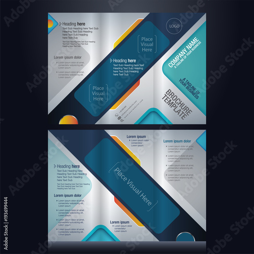tri fold brochure pamphlet flyer layout background vector