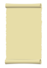Tattered old paper illustration (curled edge) / portrait