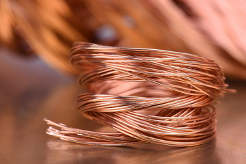 Scrap copper wire for recycling