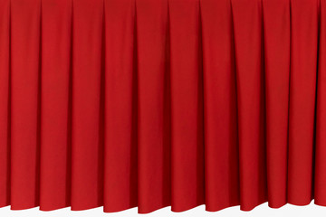 Red fabric curtain pattern for decorating on table, wall and backdrop