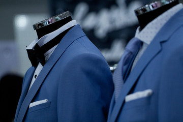 beautiful elegant jacket on a mannequin for stylish and fashionable men