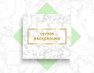 Marble textures with geometric elements banner backgrounds, golden gradient frame. Trendy minimalistic style vector illustrations for posters, placards, banners, covers