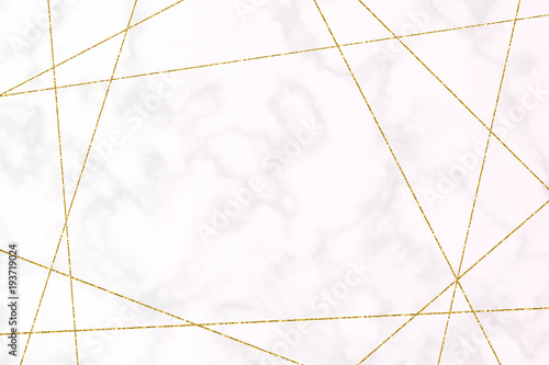 vector background white marble texture with gold glitter lines