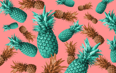 Abstract background with pineapple