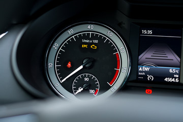 Speedometer in a modern car