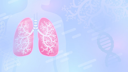 Medical abstract vector background with lungs and bronchial tree.