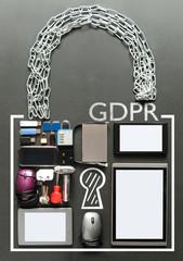 GDPR general data protection regulation padlock concept