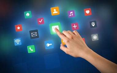 Hand touching apps