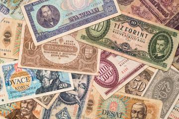 Vintage European currencies