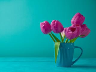 Tulip flowers bouquet