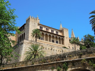 Palma de Mallorca, Spain. The Royal Palace of La Almudaina
