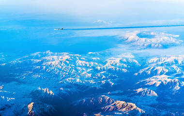 Aerial view of mountains in Northern Anatolia, Turkey