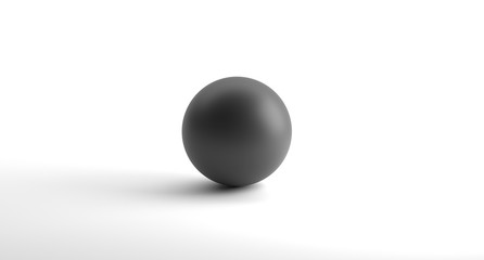 3D Rendering Of Realistic Looking Geometric Sphere Object On White Background