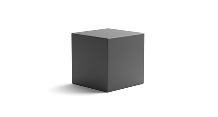 3D Rendering Of Realistic Looking Geometric Cube Object On White Background