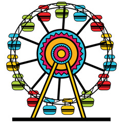 Ferris Wheel Cartoon Icon