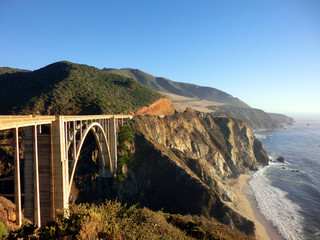 California Pacific coast highway Bixby bridge landscape