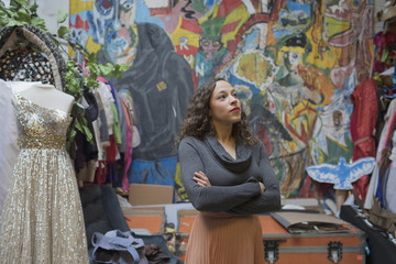 Young woman standing in art studio