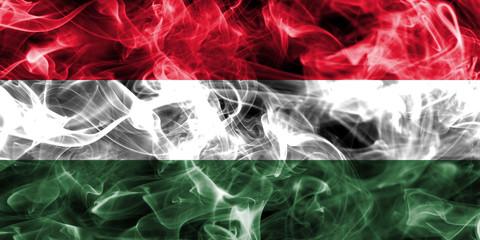 Hungary smoke flag