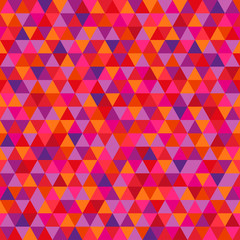 Seamless triangle pattern. Abstract geometric wallpaper of the surface. Cute background. Bright colors. Print for polygraphy, posters, t-shirts and textiles. Beautiful texture. Doodle for design
