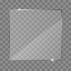 Glass plate frame. Isolated on transparent background.