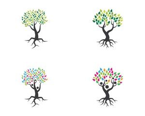 Tree icon logo template