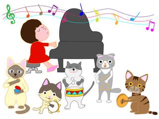 猫のコンサート。