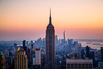 Panorama of the Manhattan skyline Fototapete