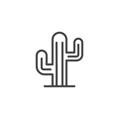 Cactus outline icon. linear style sign for mobile concept and web design. Mexican cactus simple line vector icon. Symbol, logo illustration. Pixel perfect vector graphics
