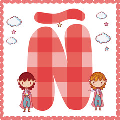 N alphabet letter for kids