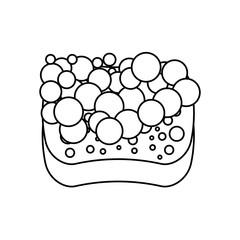 sponge bubbles foam soap vector illustration outline image