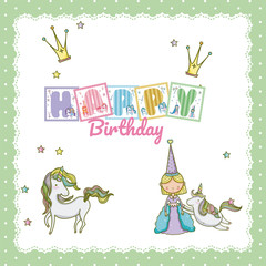 Happy birthday card for little girl
