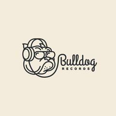 Bulldog records logo