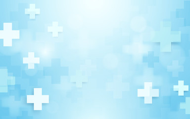 Abstract geometric medical cross shape medicine and science concept background Fototapete
