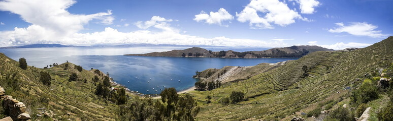 Isla del Sol on lake Titicaca in Bolivia