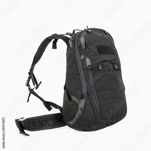 tourist black backpack for tourists with zipped pockets on a white  background d8a4bfc383b6d