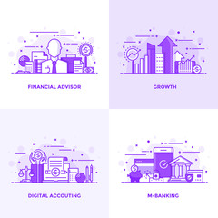 Flat line Purple Designed Concepts 5