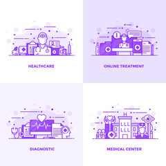 Flat line Purple Designed Concepts 9