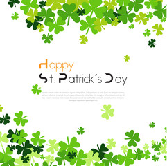 Beautiful Background For Saint Patircks Day Holiday With Clover Or Shamrock Leaves Vector Illustration