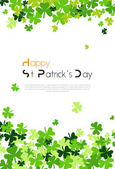 Template Background For Saint Patircks Day With Clover Or Shamrock Leaves Vector Illustration