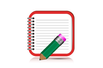 Notebook. Icon for Mobile Application. Isolated Object Illuction Vector. eps10