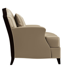 Classic chair in art deco style isolated on white background.Digital illustration.3d rendering
