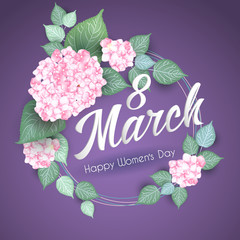 8 March Women s Day greeting card template