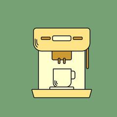 Semi Automatic Espresso Machine Flat Icon