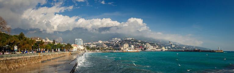 panoramic view from Yalta embankment.