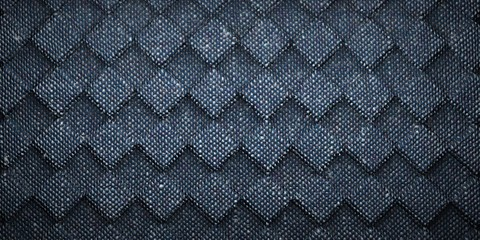 Abstract Background Texture of rotated dark gray carpet checkerboard pattern. 3D Rendered.