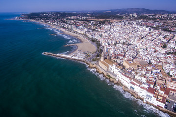 City of Sitges. Aerial view