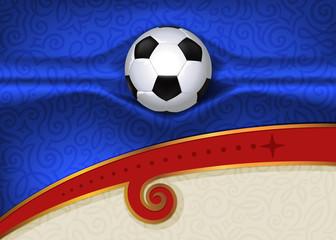 football  background, 2018 trend, championship, soccer ball , goal, fabric folds