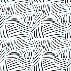 Seamless pattern with chaotic line textures. Hand drawn fashion hipster background. Vector for print, fabric, textile, invitation card, wrapping.
