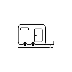 camper icon.Element of popular tourism icon. Premium quality graphic design. Signs, symbols collection icon for websites, web design,